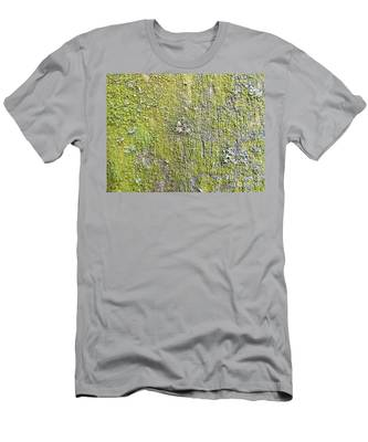 Natural Abstract 1 Old Fence With Moss Men's T-Shirt (Athletic Fit)