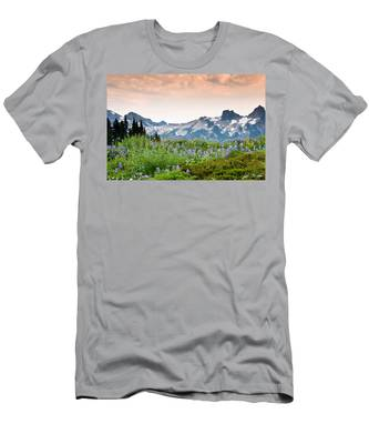 Paradise Meadows And The Tatoosh Range Men's T-Shirt (Athletic Fit)