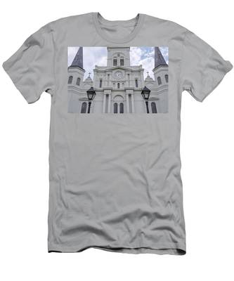 St. Louis Cathedral Close-up Men's T-Shirt (Athletic Fit)