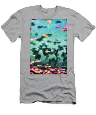 Swirling Leaves And Petals 2 Men's T-Shirt (Athletic Fit)