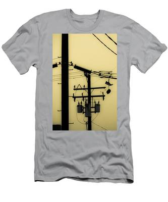 Telephone Pole And Sneakers 5 Men's T-Shirt (Athletic Fit)