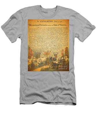The Signing Of The United States Declaration Of Independence Men's T-Shirt (Athletic Fit)