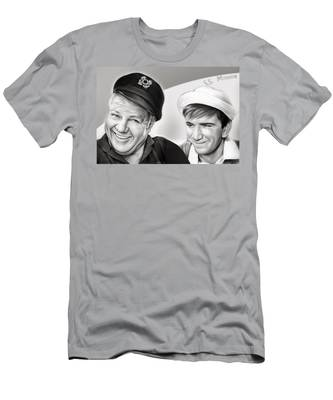 The Skipper And Gilligan Men's T-Shirt (Athletic Fit)