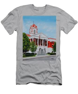 White County Courthouse - Veteran's Memorial Men's T-Shirt (Athletic Fit)