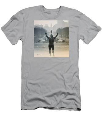 Men's T-Shirt (Athletic Fit) featuring the photograph Yo Adrian by Bill Cannon