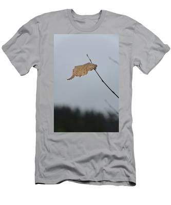 Men's T-Shirt (Athletic Fit) featuring the photograph A Lonely Leaf by Michael Goyberg