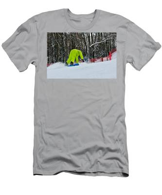 Men's T-Shirt (Athletic Fit) featuring the photograph Braking by Michael Goyberg