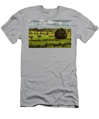 Men's T-Shirt (Athletic Fit) featuring the photograph Lonely Tree by Michael Goyberg