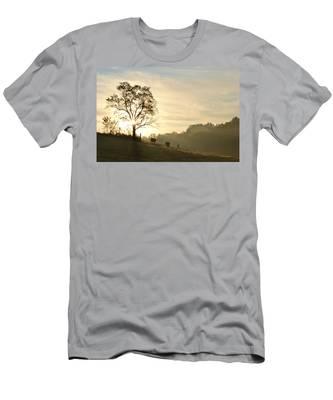 Pasture Sunrise Men's T-Shirt (Athletic Fit)