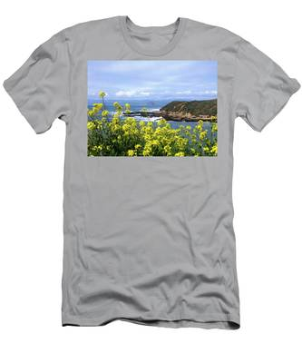 Through Yellow Flowers Men's T-Shirt (Athletic Fit)
