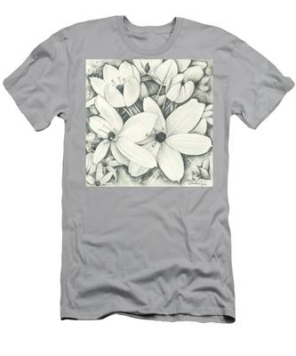 Flowers Pencil Men's T-Shirt (Athletic Fit)