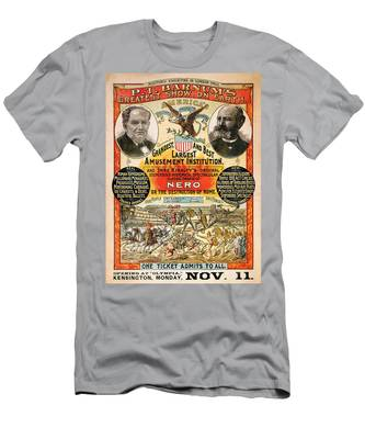 1890 - Circus Poster Men's T-Shirt (Athletic Fit)
