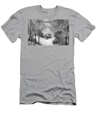 A Winter's Tale In Centerport New York Men's T-Shirt (Athletic Fit)