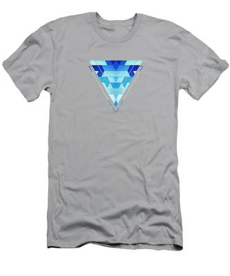 Blue Abstract T-Shirts