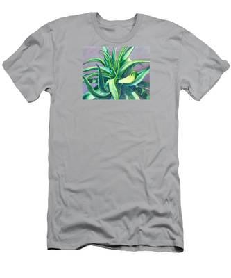 Aloe Vera Watercolor Men's T-Shirt (Athletic Fit)