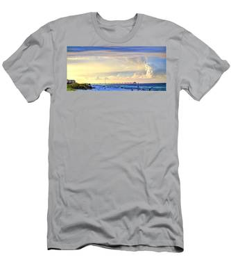 Beach House Window Men's T-Shirt (Athletic Fit)