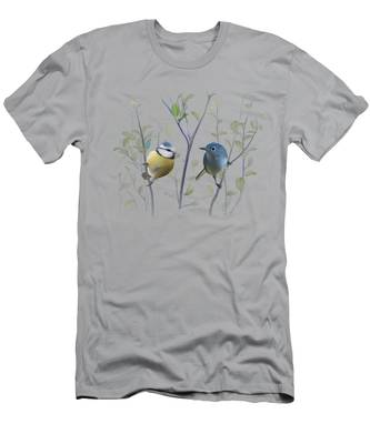 Birds In Tree Men's T-Shirt (Athletic Fit)