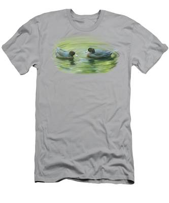 Blue Ducks  Men's T-Shirt (Athletic Fit)