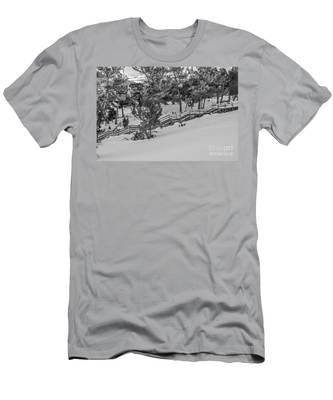 Boardwalk Climbing A Hill Men's T-Shirt (Athletic Fit)