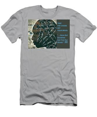 Brain Chains Men's T-Shirt (Athletic Fit)