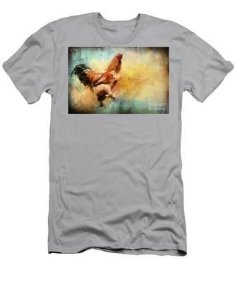Buff Brahma Mrs. Darwin's Rooster  Men's T-Shirt (Athletic Fit)
