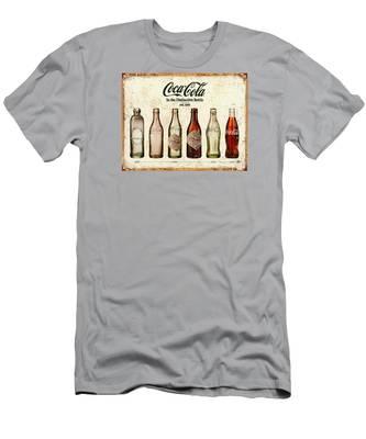 Coca-cola Bottle Evolution Vintage Sign Men's T-Shirt (Athletic Fit)