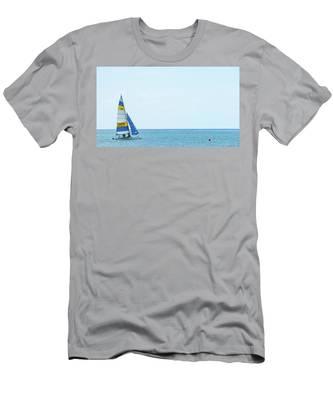 Colorful Catamaran 3 Delray Beach Florida Men's T-Shirt (Athletic Fit)