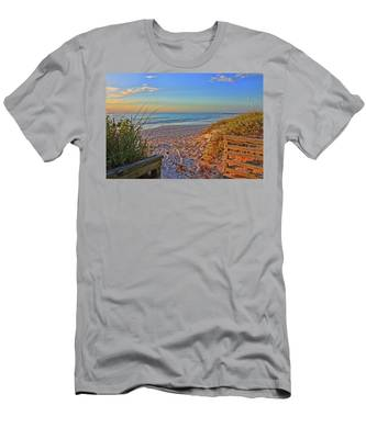 Coquina Beach By H H Photography Of Florida  Men's T-Shirt (Athletic Fit)