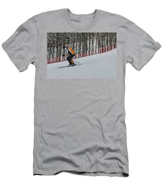 Men's T-Shirt (Athletic Fit) featuring the photograph Downhill by Michael Goyberg