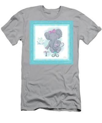 Elephant Bath Time Look Your Best Men's T-Shirt (Athletic Fit)