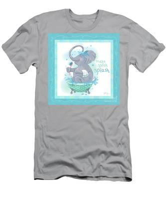 Elephant Bath Time Splish Splash Men's T-Shirt (Athletic Fit)