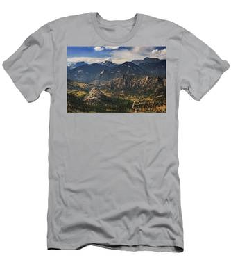 Estes Park Aerial Men's T-Shirt (Athletic Fit)