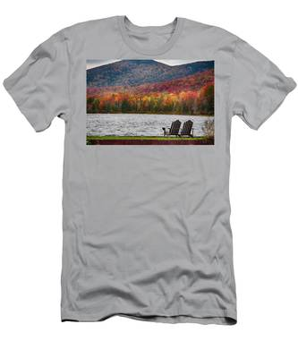 Men's T-Shirt (Athletic Fit) featuring the photograph Fall Foliage At Noyes Pond by Jeff Folger
