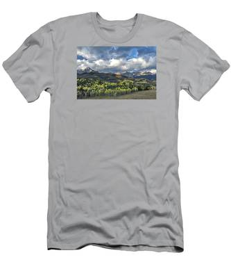 First Light On The Sneffels Range Men's T-Shirt (Athletic Fit)
