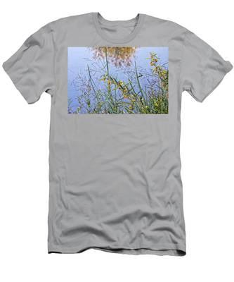 Floral Pond  Men's T-Shirt (Athletic Fit)