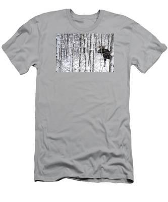 Glimpse Of Bull Moose Men's T-Shirt (Athletic Fit)