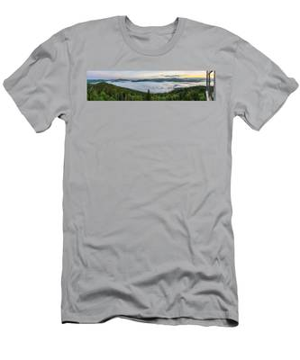 Men's T-Shirt (Athletic Fit) featuring the photograph Goodnow Mountain Panorama by Brad Wenskoski