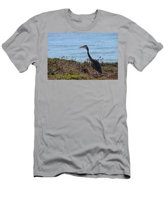 Men's T-Shirt (Athletic Fit) featuring the photograph Great Blue Heron - 3 by Christy Pooschke