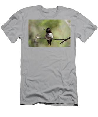 Men's T-Shirt (Athletic Fit) featuring the photograph Hummingbird - 5 by Christy Pooschke