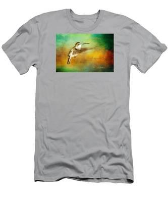 Hummingbird Hover Men's T-Shirt (Athletic Fit)