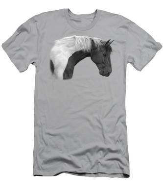 Intrigued - Black And White Men's T-Shirt (Athletic Fit)