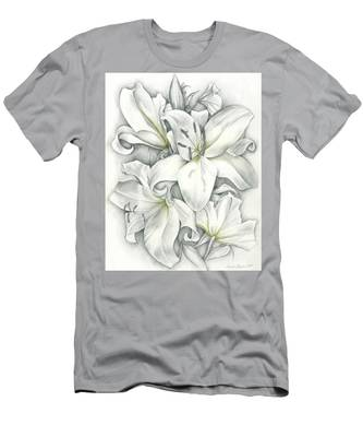Lilies Pencil Men's T-Shirt (Athletic Fit)