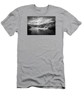 Low Sun Across The Nantahala River As The Clouds Clear Away Men's T-Shirt (Athletic Fit)