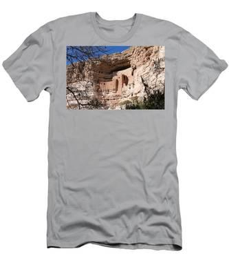Men's T-Shirt (Athletic Fit) featuring the photograph Montezuma Castle  by Christy Pooschke