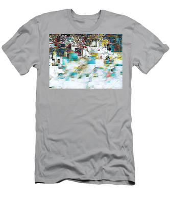 Snowy Mountains Men's T-Shirt (Athletic Fit)