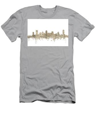 Nashville Tennessee Skyline Sheet Music Men's T-Shirt (Athletic Fit)