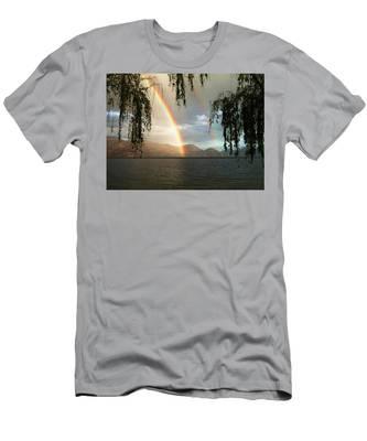 Okanagan Rainbow Men's T-Shirt (Athletic Fit)