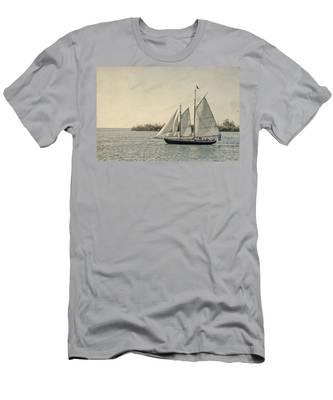 Old Key West Sailing Men's T-Shirt (Athletic Fit)