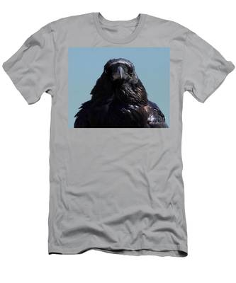 Portrait Of A Raven Men's T-Shirt (Athletic Fit)