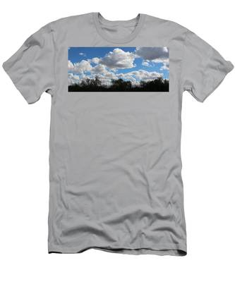 Men's T-Shirt (Athletic Fit) featuring the photograph Puffy Sky  by Christy Pooschke